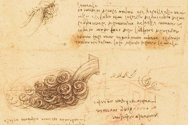 מחקר על המים - לאונרדו דה וינצ'י
