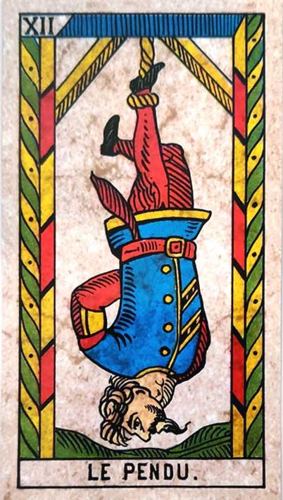 קלף טארוט של מרסיי קלאסי האדם התלוי