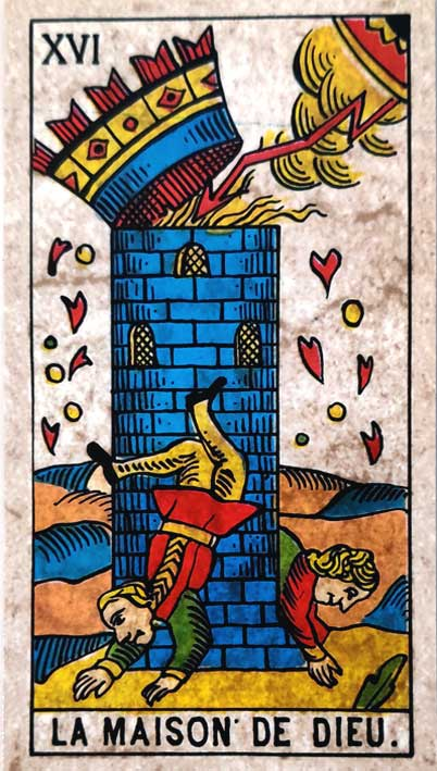 קלף טארוט של מרסיי קלאסי המגדל