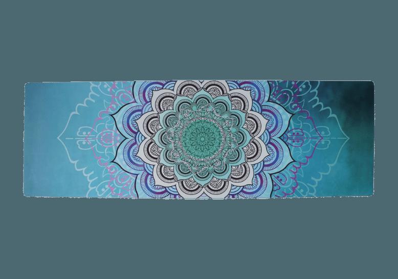 מזרן יוגה מעוצב עם ציור של מנדלה